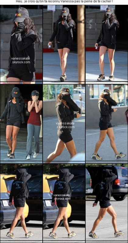 NEWS 24/12 : Vanessa quittant la salle de gym avec Stella