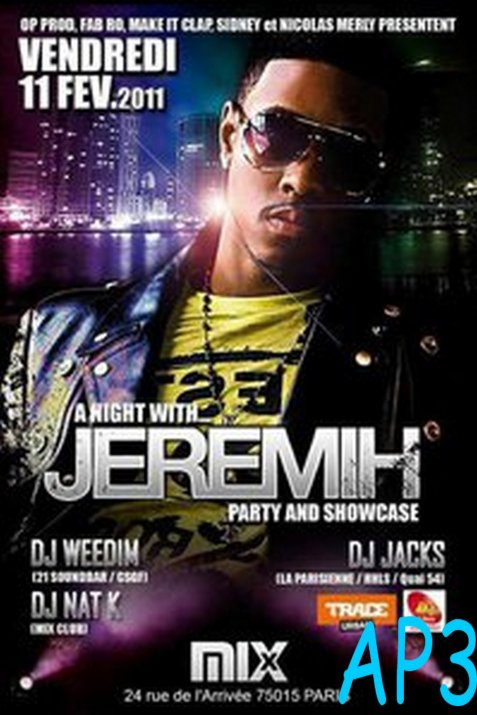♬ JEREMIH - SHOWCASE LIVE AU MIX CLUB ♬ [11.02.2011] by Mathieu