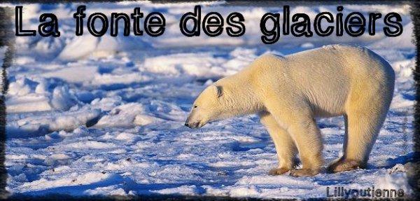 La fonte des glaciers