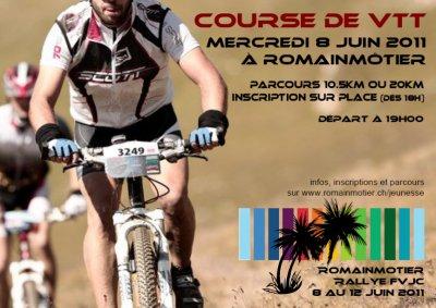 Course VTT mercredi 8 juin 2011