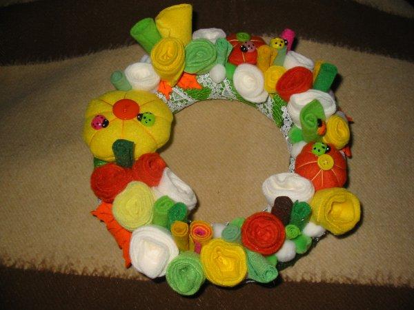 Couronnes Fleurs, citrouilles & coccinelles ♥
