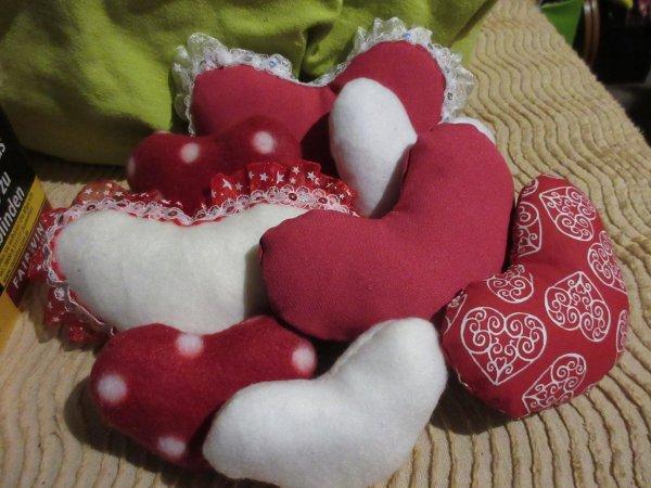 Coeurs et pompons