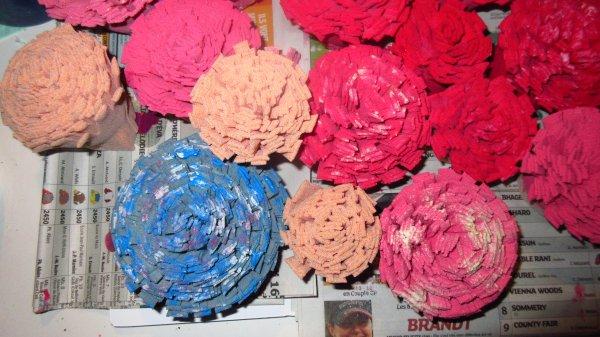 Bandages bruns recyclage - Peinture
