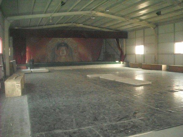 Temple shaolin,salle d'entrainement