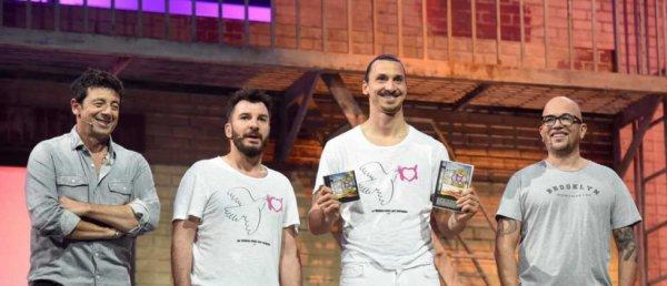 Patrick Bruel, Michael Youn, Zlatan Ibrahimovic et Pascal Obispo les enfoires 2016