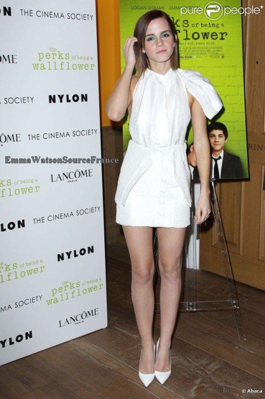 Emma Watson a NY pour une avant-première de The Perks .