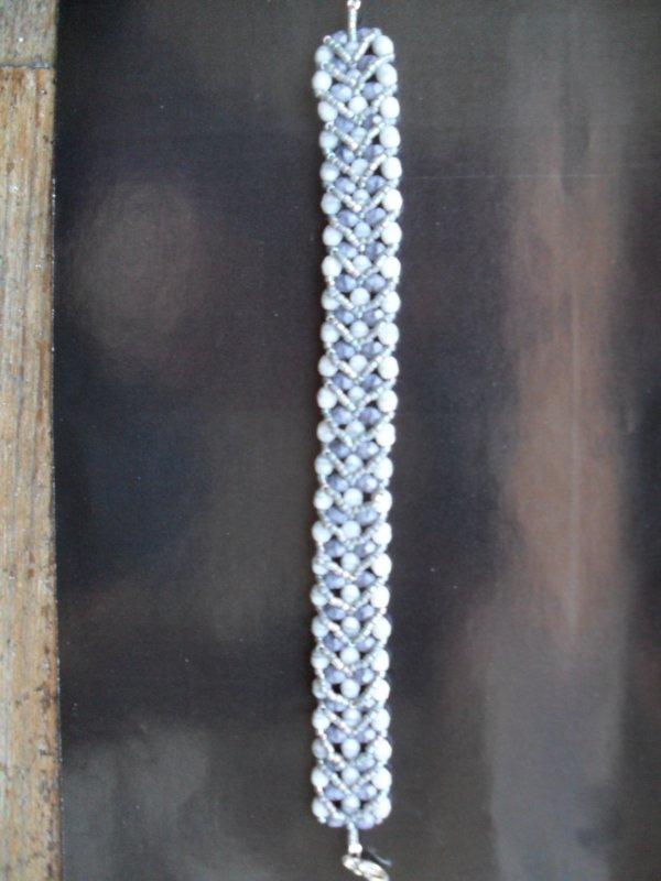 Bracelet en facettesde bohêmes et rocailles delicas