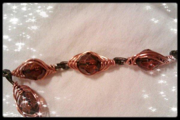 Bracelet en cuivre et Fafettes