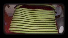 Sac fermeture écaire marron et pistache