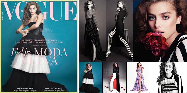 Taylor fait la couverture du mois de Janvier 2018 du  magazine ─ «VOGUE SPAIN»