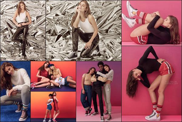 « CONVERSE - FOREVER CHUCK »  •   Taylor Hill pose pour la nouvelle collection de la marque.