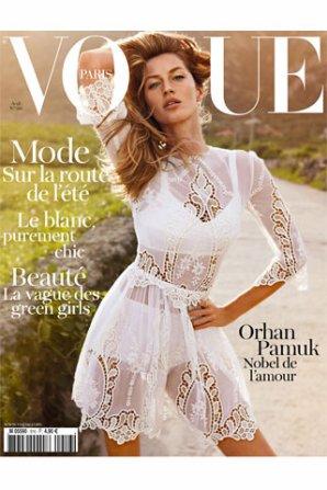 Gisele Bündchen en couverture de Vogue Paris et  James Franco en couverture de Vogue Hommes International