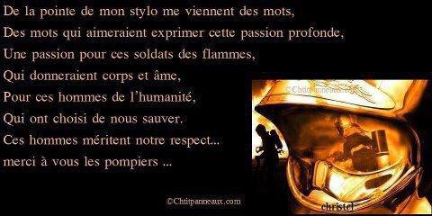 poeme pour les pompiers