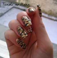 "Vernis à ongle  "" Stickers Tigre """