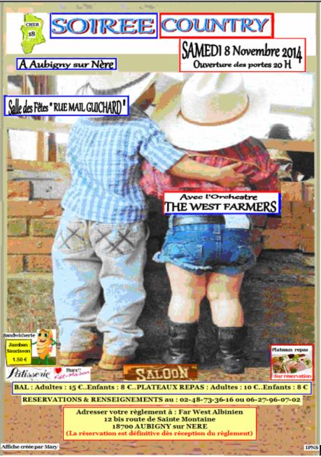 """PROCHAIN RENDEZ VOUS SUR LE DANCE FLORLE SAMEDI 8 NOVEMBRE  AVEC  L'ORCHESTRE  """"THE WEST FARMERS""""....."""