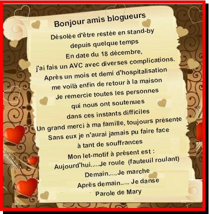MESSAGE DE MARY...