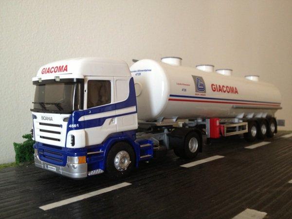 Scania R420 transports Giacoma