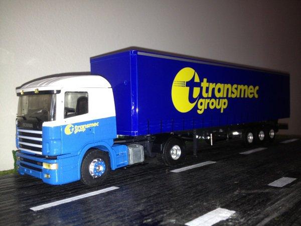 Scania 144 transports Transmec
