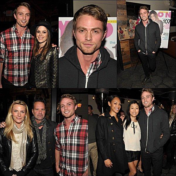 . 15 Novembre 2011 - Will était à la soirée de lancement du magazine NYLON avec sa co-star de Hart Of Dixie, Rachel Bilson qui est en couverture du magazine. Ils sont trop mignon tous les deux ! Alalala ! Ils sont très beaux, niveau tenue.  .