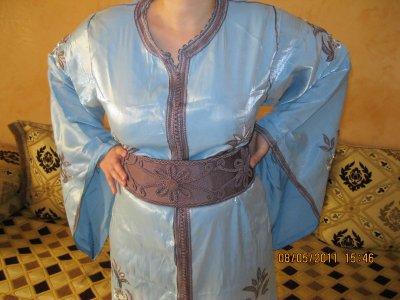 Takchita bleu clair Samira taille 38 à 44 , prix 150¤