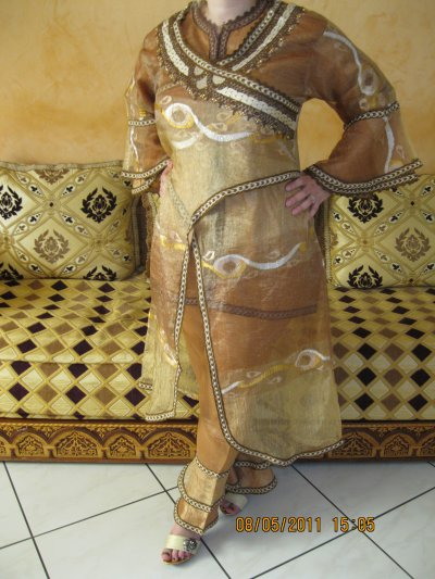 Jabador Aladin marron et beige Btissame 3 pièces, taille 38 à 42 , prix 50 ¤