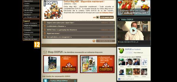 Découverte du Site Dofus