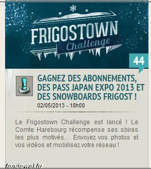 Le Frigostown challenge est désormais lancé !