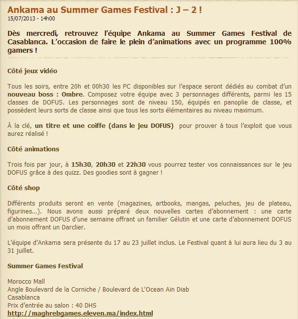 ankama au summer games festivals a casablanca