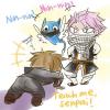 Les maîtres ninja Natsu et Happy