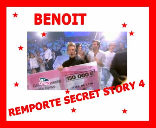 BENOIT REMPORTE SECRET STORY 4 !