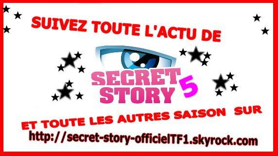 SUIVEZ L'ANNE PROCHAINE TOUTE L'ACTU DE SECRET STORY 5 SUR : http://story-story-officielTF1.skyrock.com