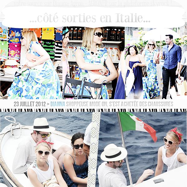 """. Article special """"Italia"""" !  Dianna souriante - partout. Dianna radieuse - partout. Dianna contente d'être là-bas. Ca fait plaisir à voir ! ."""