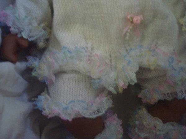 Arc en ciel ....... Ensemble tricoté main ......