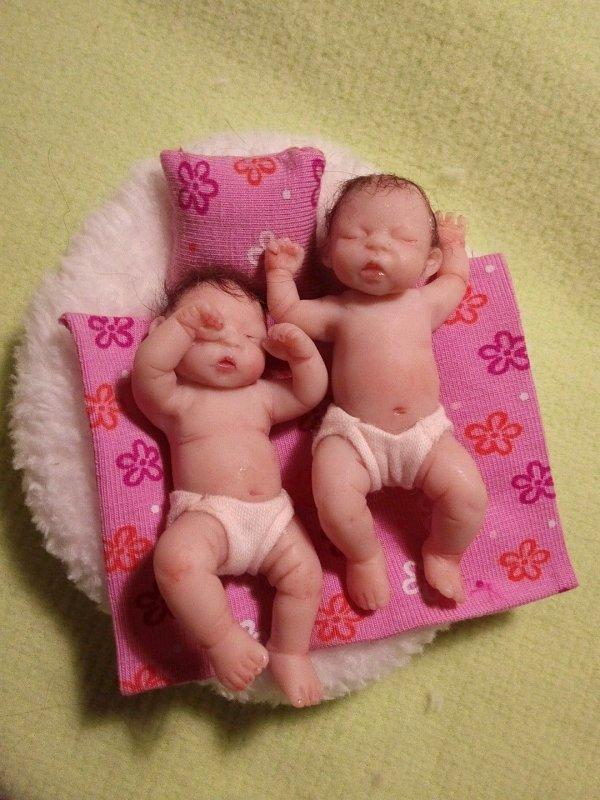 Mes mini jumelles .....