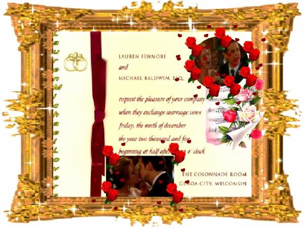 @ KDO POUR VOUS LES AMIES @ LE FAIRE-PART DE MARIAGE DE LAUREN & MICHAEL BALDWIN @