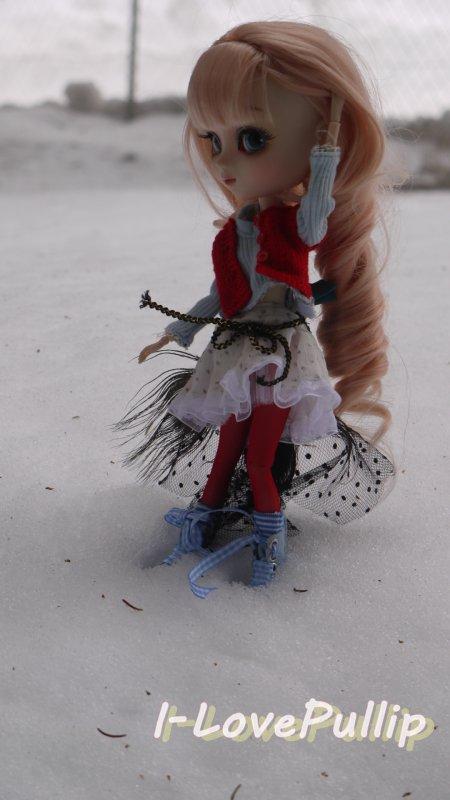Séance D'Allyzée, dans la neige.