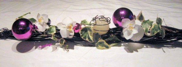 Chemin de table blog de cataleya art floral for Art floral centre de table noel