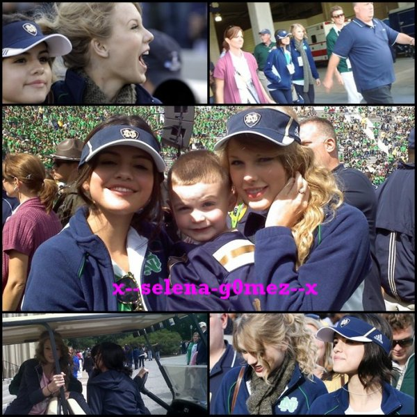 Selena Gomez et Taylor Swift au match Notre Dame Football Game!