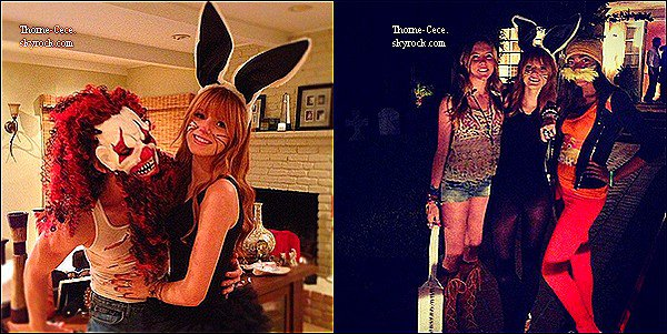 Decouvrez deux nouvelles photos twitter de Bella Zendaya et  Caroline sur le tournage de Shake It Up le 31 octobre.