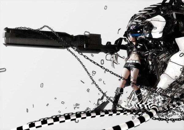 *O* cosplay Black Rock Shooter ♥♥