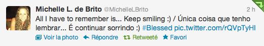 | Coin Twitter | Michelle à crée son twitter il y'a quelques semaines.