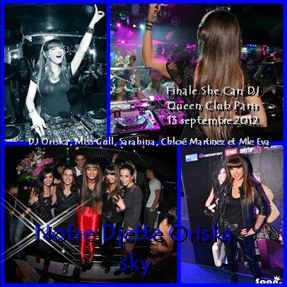 Les photos de la finale She Can DJ au Queen Club le 13 septembre 2012 !!!