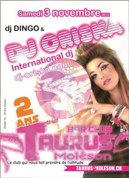 DJ Oriska au Taurus Club le 3 novembre 2012
