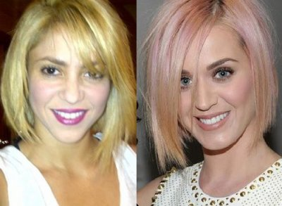 Nuevo peinado Shakira y Katy Perry