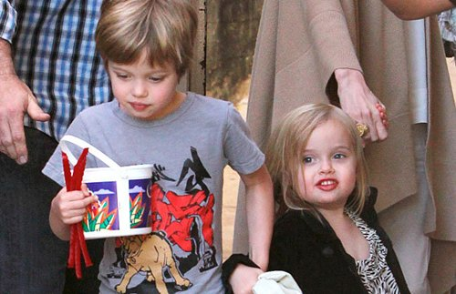 La hija de Brad Pitt y Angelina Jolie maquillada