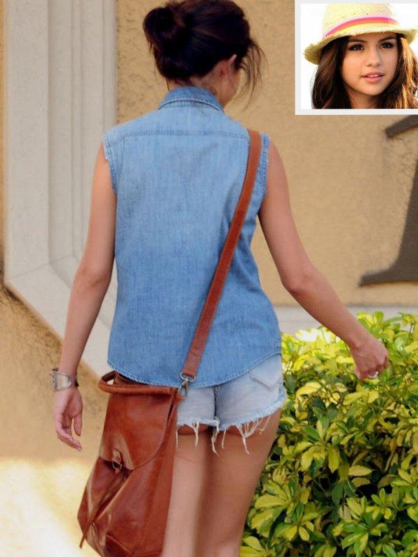 Selena Gomez con shorts demasiado cortos...