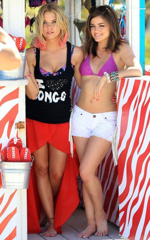 Ashley Benson y Lucy Hale: Sesión de Fotos Jeans Bongo!