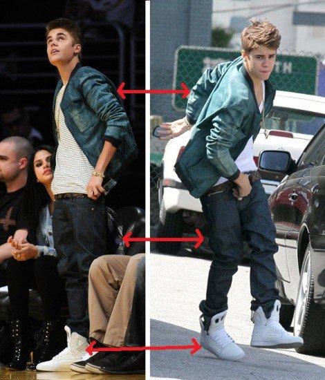 Justin y Selena se ponen la misma ropa
