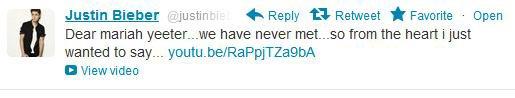 "Justin twittea ""Nunca conseguirás esto"" a Maria Yeater"