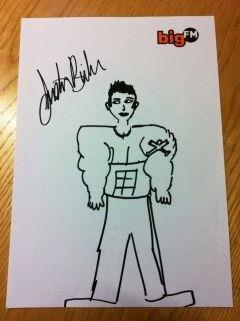Justin hace un dibujo de el mismo
